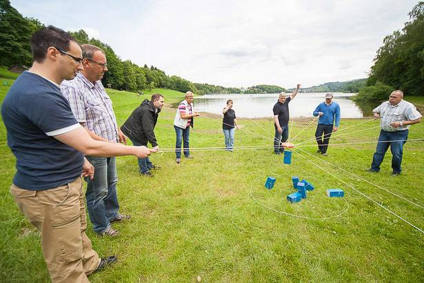 tower of power als idee fuer teamevent outdoor